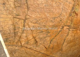 Rain forest gold marble and stone