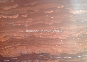 Red fire marble